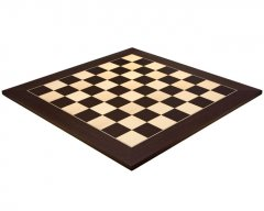 Wenge & Maple Deluxe Chess Board 23.6 Inches
