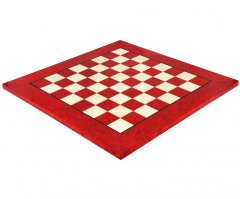 Red Erable & Elmwood Luxury Chess Board