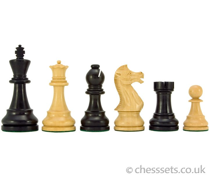 Frankfurt Series Ebonised Boxwood Staunton Chess Pieces - Click Image to Close