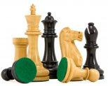 Broadbase Pro Ebony and Boxwood Chessmen 4 Inches