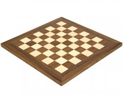 Walnut & Maple Deluxe Chess Board 13.75 Inches