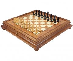 Supreme Windsor Ebony & Briarwood Traditional Chess Set