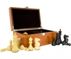 Reykjavik Ebony Chess Pieces with Storage Case