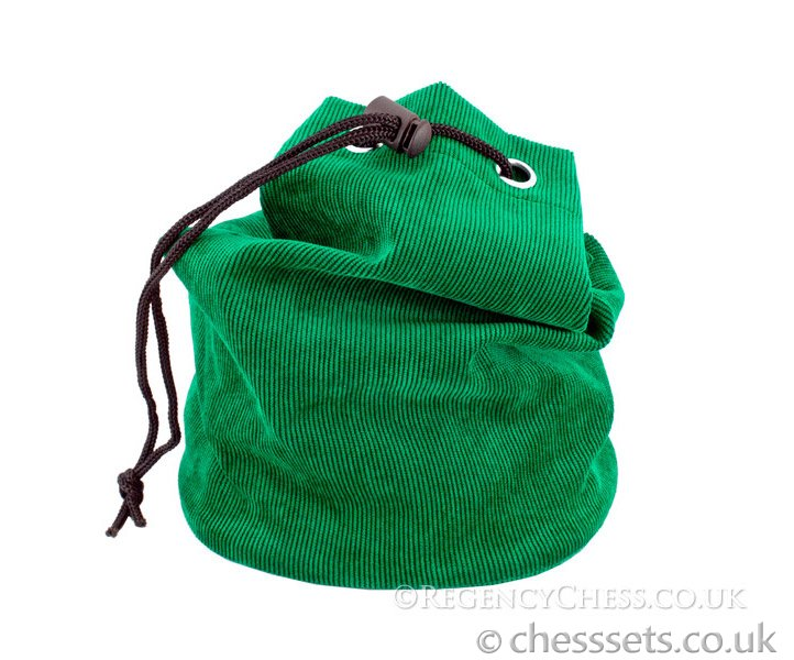 Green Fabric Chess Piece Bag - Click Image to Close