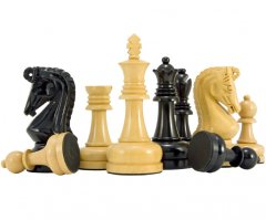 Byzantine Series Ebony & Boxwood Chess Pieces