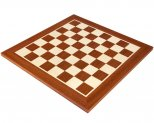 Dark Mahogany & Maple Inlaid Chess Board 16 Inches