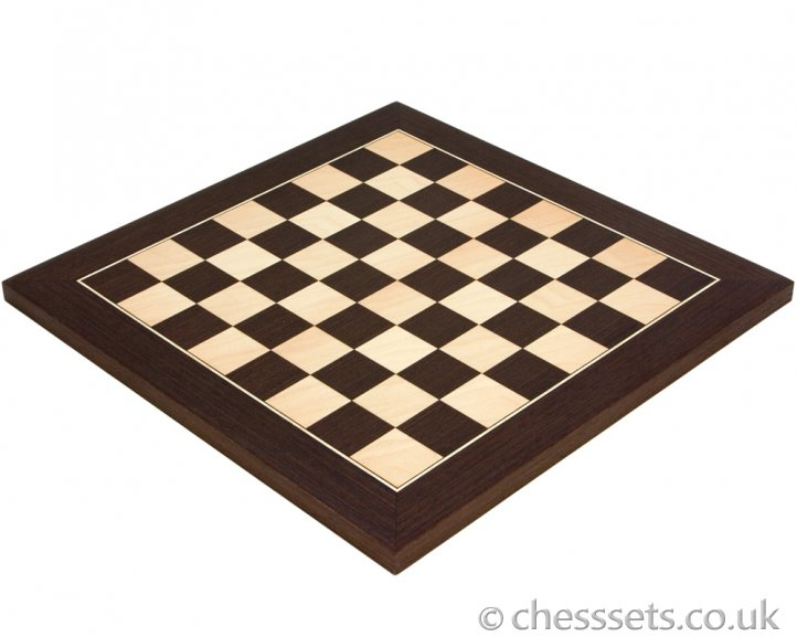 Wenge & Maple Deluxe Chess Board 13.75 Inches - Click Image to Close