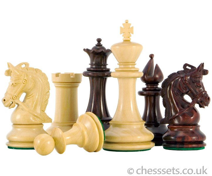 Corinthian Series Luxury Red Sandalwood Chess Pieces - Click Image to Close