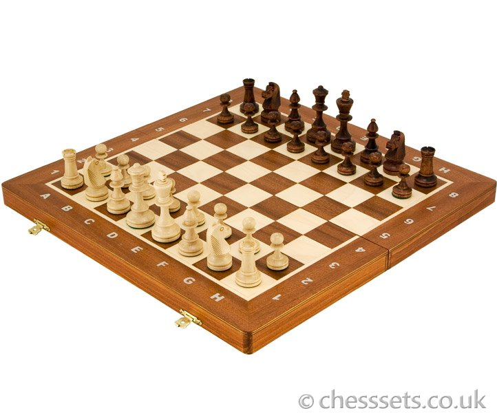 Staunton Style Tournament Chess Set 19 Inches - Click Image to Close