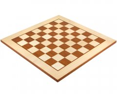 Light Maple & Mahogany Inlaid Chess Board 19 Inches