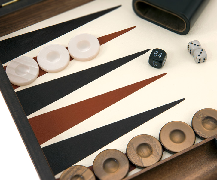 Manopoulos Luxury Ivory Backgammon Set [BKD-1IV] - £158 95