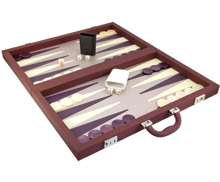 Dal Negro Backgammon Set Luxury Composite Bordeaux [309T/BX