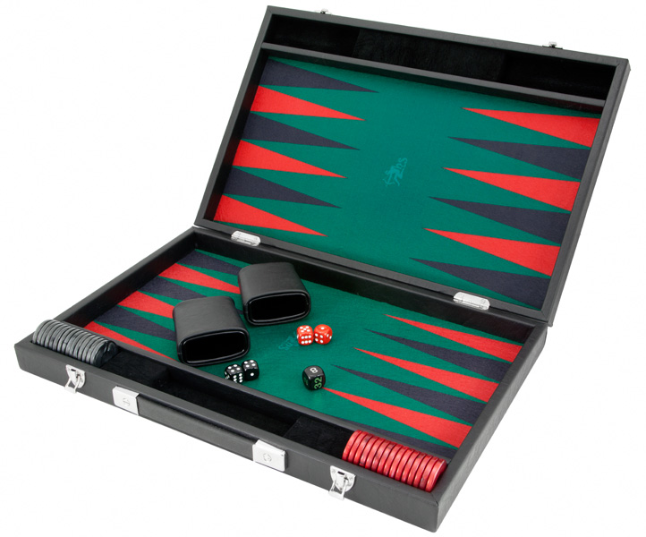 Hector Saxe Luxury Medium Backgammon Green Black