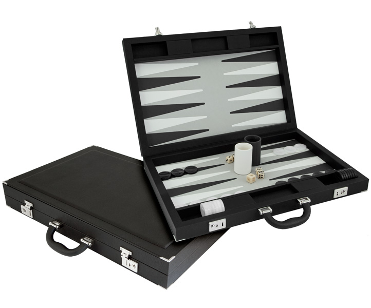 Dal Negro Backgammon Set Luxury Black