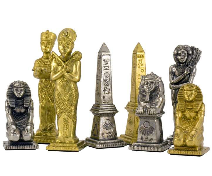 Egyptian Chess Set Metal Chess Pieces