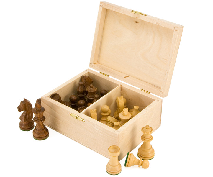 Birch Wood Chess Piece Case