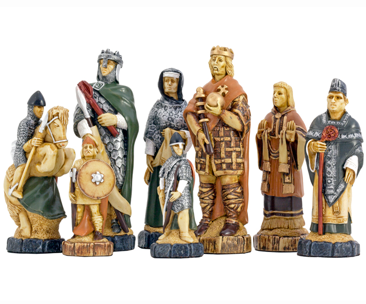 SAC Battle of Hastings Themed Chessmen Hand Painted