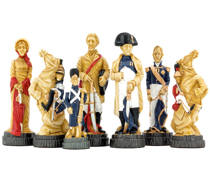 SAC Battle of Waterloo Chess Set Hand Painted