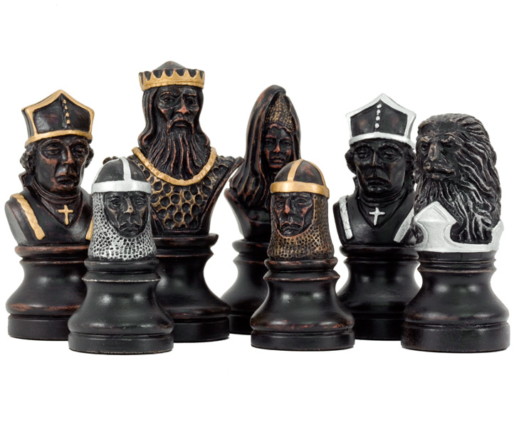 SAC Richard the Lionheart Chess Set Hand Painted Chessmen