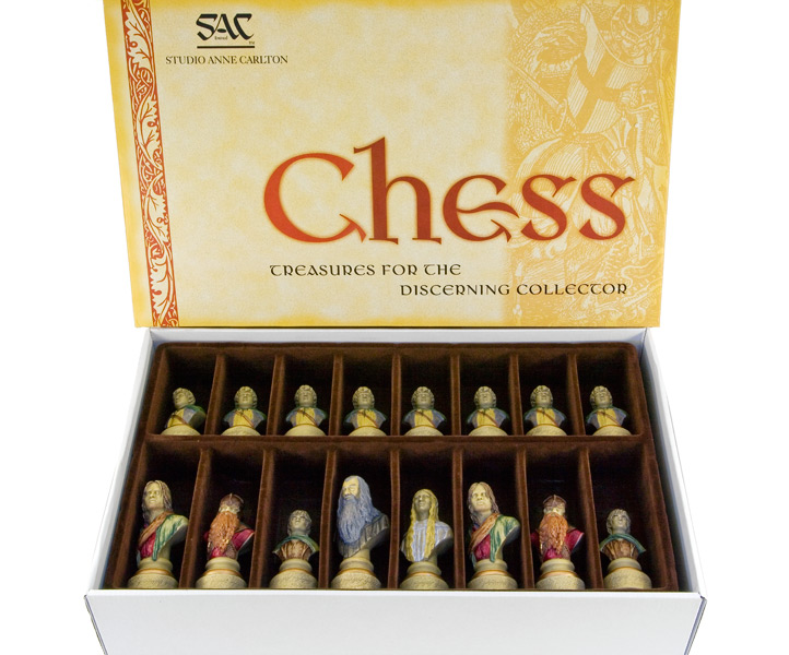 SAC Lord of the Rings Chess Set Hand Painted Chessmen