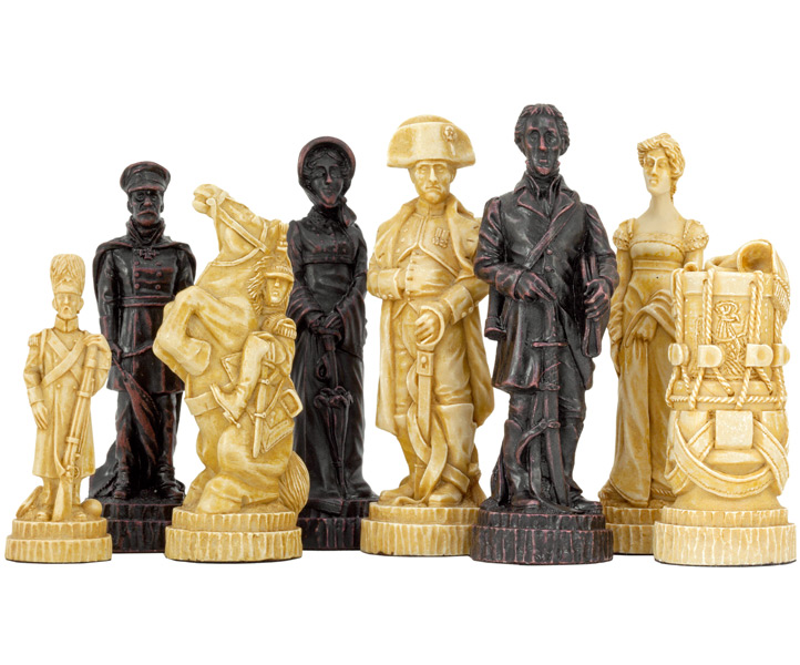 SAC Battle of Waterloo Chess Set Undecorated