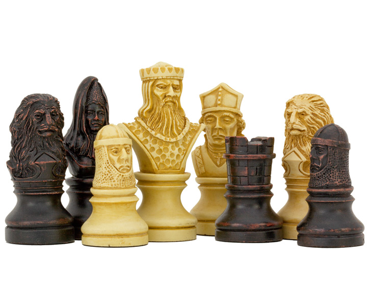 SAC Richard the Lionheart Chess Set Undecorated Chessmen