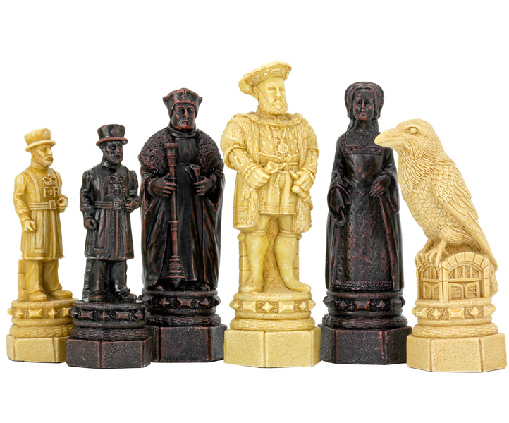 SAC The White Tower Chess Set Undecorated Chess Pieces