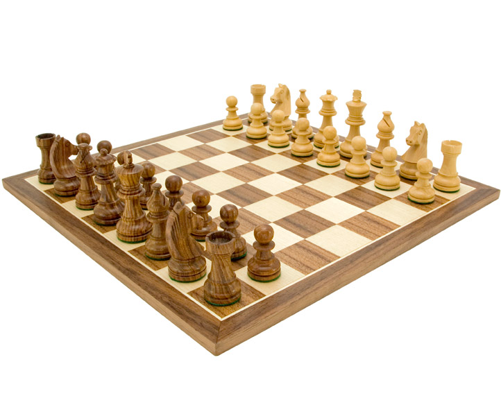 Down Head Knight Academy Chess Set