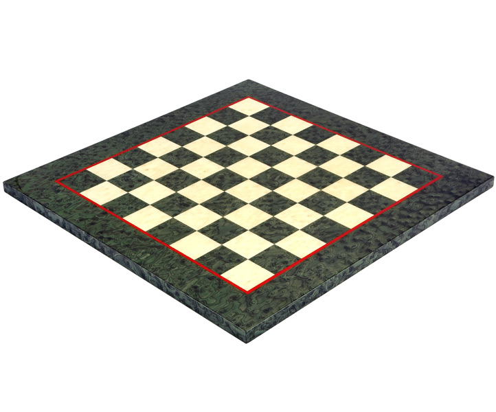 Olive Green Erable & Elm Wood Luxury Chess Board