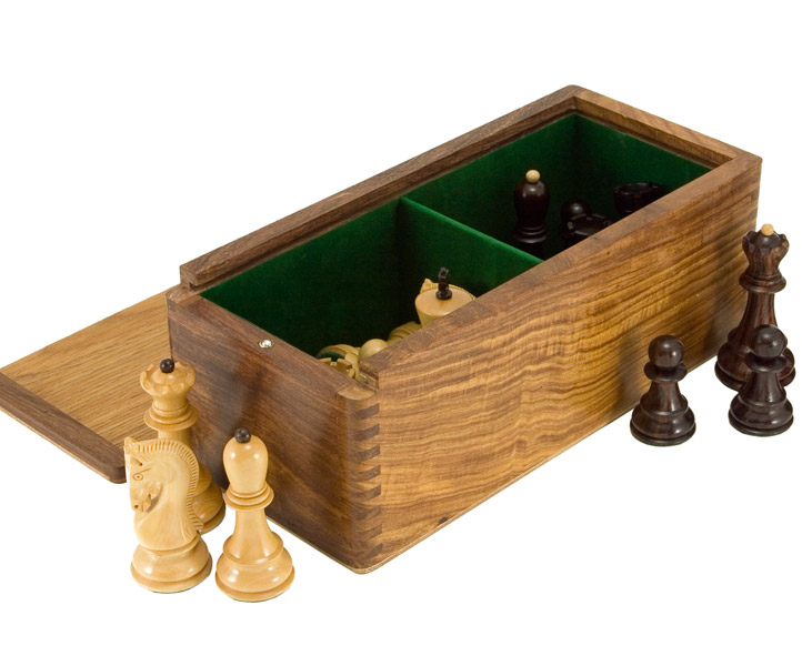 Sheesham Chess Piece Cabinet with Sliding Lid