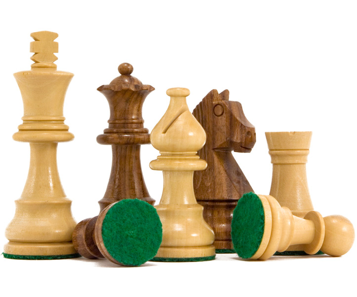 Down Head Sheesham Staunton Chess Pieces 3 Inches