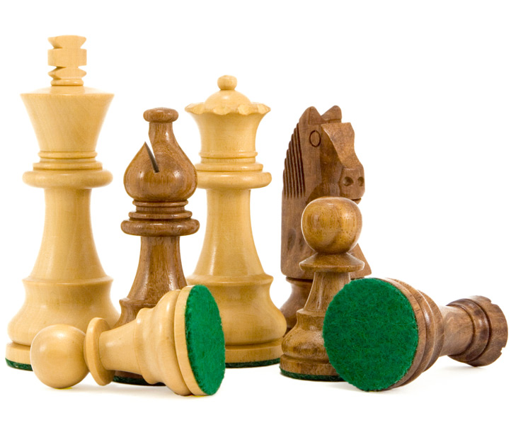 Down Head Sheesham Staunton Chess Pieces 3 1/4 Inches