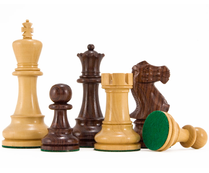 Atlantic Rosewood Staunton Chess Pieces 4 1/4 Inches