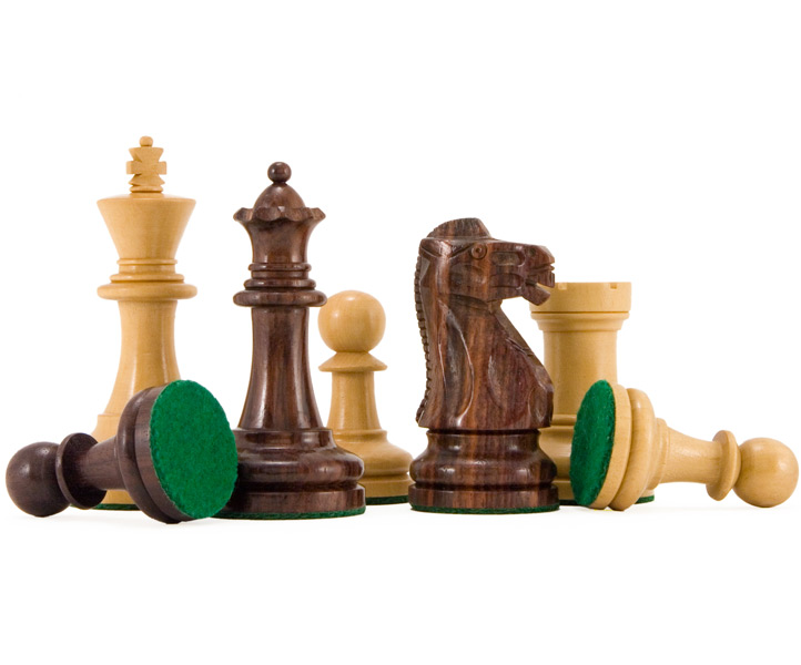 Supreme Rosewood & Boxwood Staunton Chess Pieces