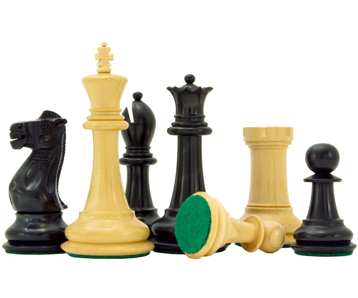 Victoria Series Ebonised Boxwood Chess Pieces