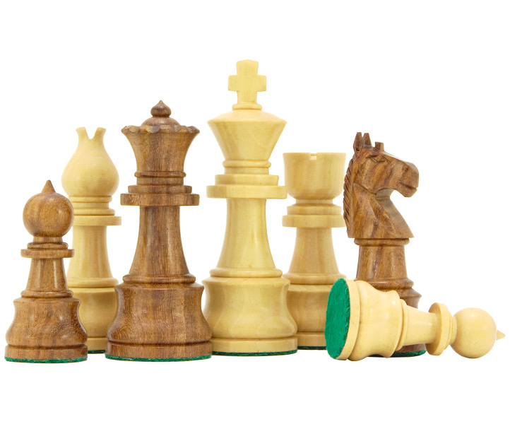 Opus Sheesham & Boxwood Chess Pieces
