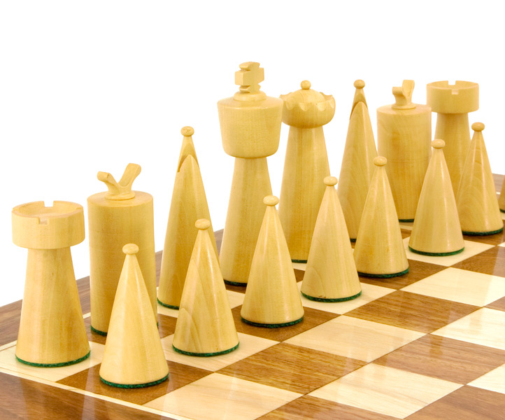 Art Deco Sheesham and Boxwood Chess Pieces [RCP059] - £41 95