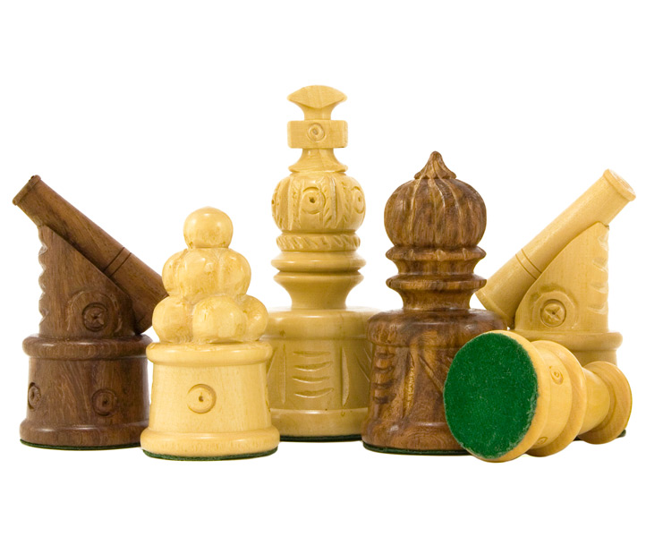 Cannon Hand Carved Chess Pieces in Sheesham