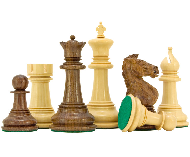 Madrid Series Sheesham & Boxwood Chess Pieces - Click Image to Close