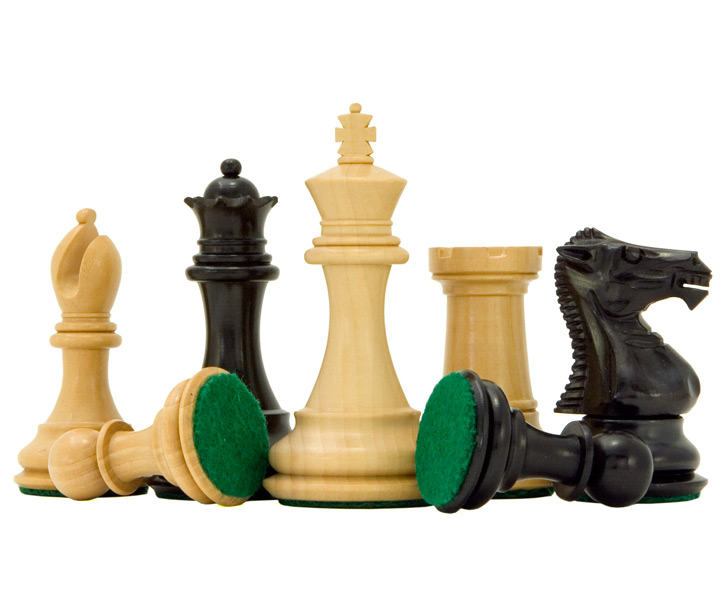 Windsor Series Ebony & Boxwood Staunton Chess Pieces