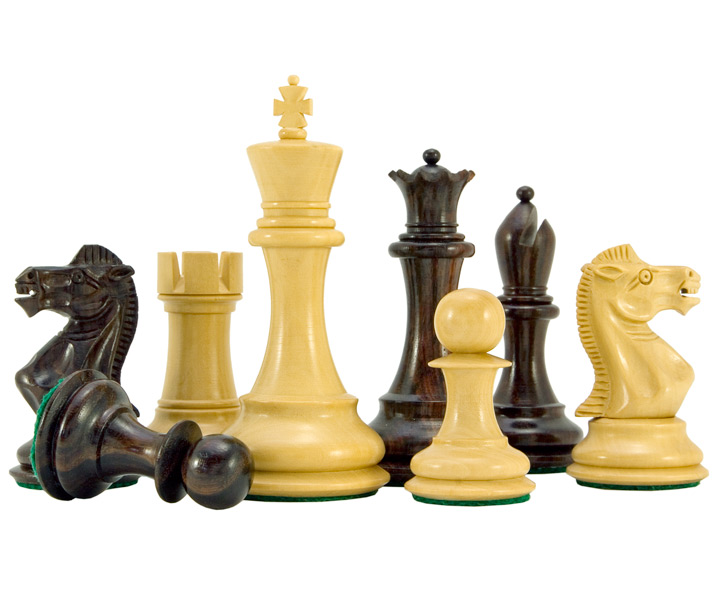 Sicilian Series Rosewood & Boxwood Staunton Chess Pieces