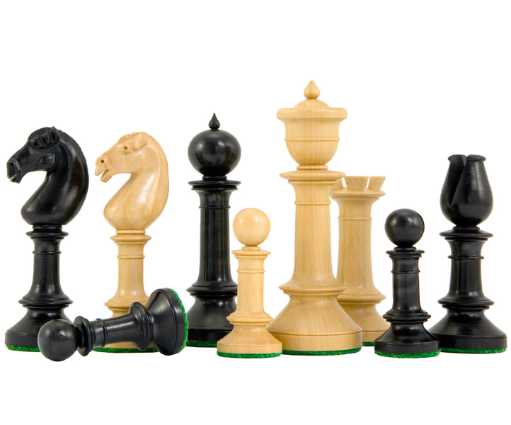 Northern Upright Ebony & Boxwood Chess Pieces