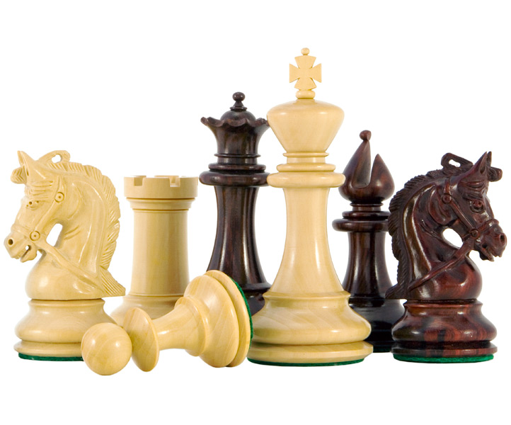 Corinthian Series Luxury Red Sandalwood Chess Pieces