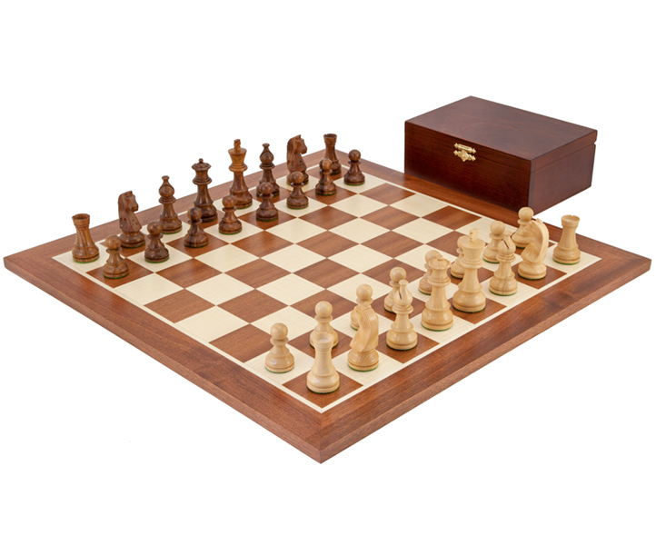 Down Head Sheesham Championship Chess Set Large - Click Image to Close