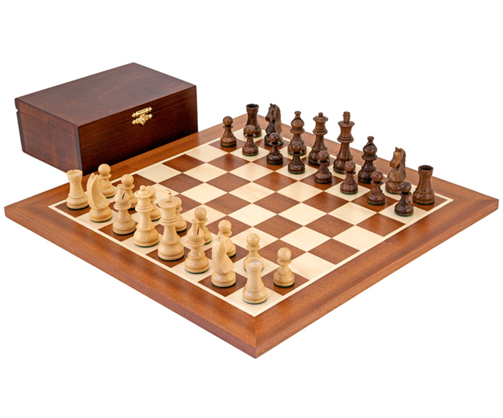 Down Head Sheesham Championship Chess Set - Click Image to Close