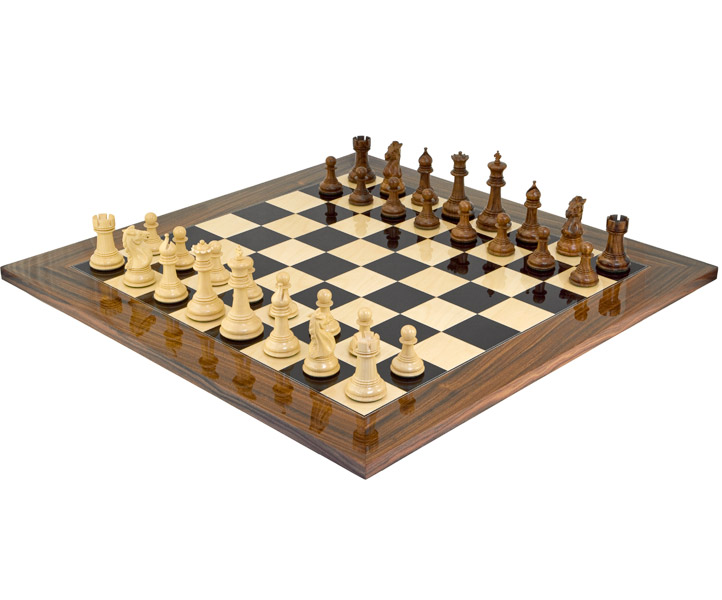 Madrid Grand Palisander Chess Set - Click Image to Close