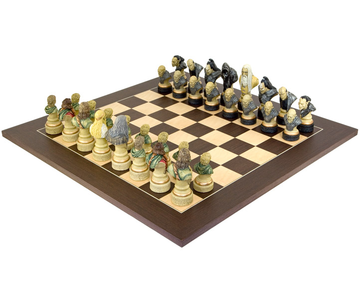 Lord of the Rings Chess Set Wenge