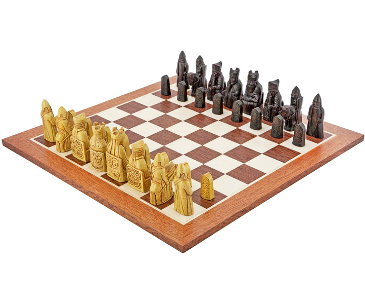 Isle Of Lewis Chess Set Mahogany