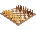 Coiled Jerusalem Sheesham & Walnut Chess Set