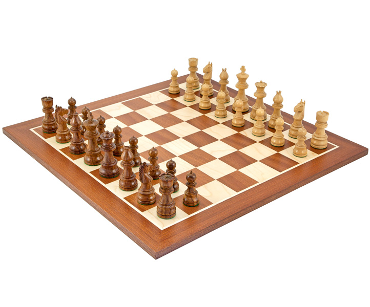 Opus Sheesham & Mahogany Chess Set